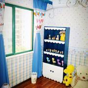白色简约型美式90平米儿童房家装设计