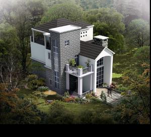 别墅建造外景图