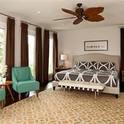 卧室黄色时尚地毯