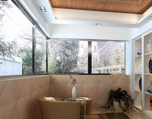 享受阳光浴:大户型露台阳光房装修图