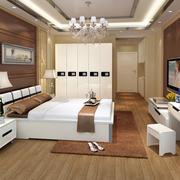 欧式简约风格实木床效果图