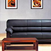 现代简约风格黑色沙发背景墙
