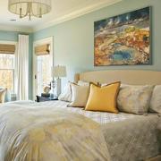 都市风格房间床头背景墙
