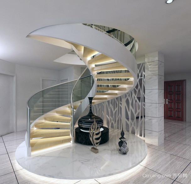 现代 大户型旋转楼梯 装修效果图 齐装网装修效