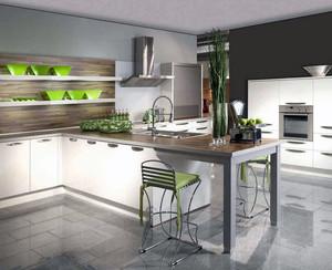 简欧别墅型开放式厨房装修效果图
