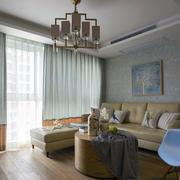 房屋客厅素雅窗帘