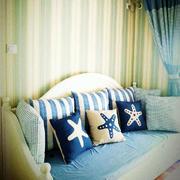 室内沙发蓝色装饰