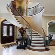 别墅铁艺旋转楼梯