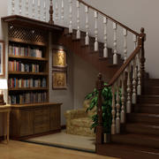 美式实木自然楼梯