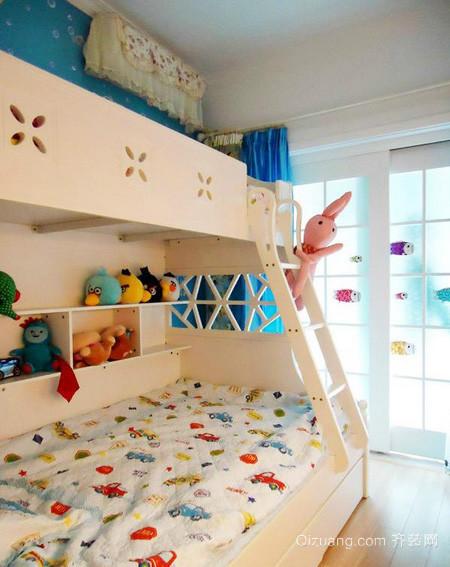 美式风格儿童房双人上下铺装修效果图设计