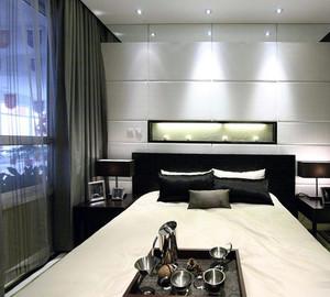 后现代卧室床头背景墙设计