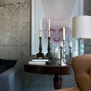 现代化简约复式楼卡其色沙发设计
