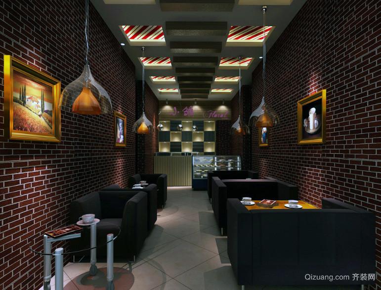 都市精致咖啡厅吊顶装修效果图