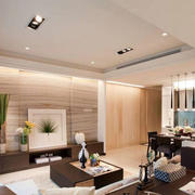 室内客厅简约白色吊顶