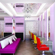 紫色浪漫的发廊