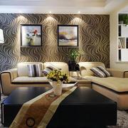 现代化复式楼清新客厅茶几设计