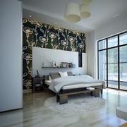 简约风格卧室床头置物架设计