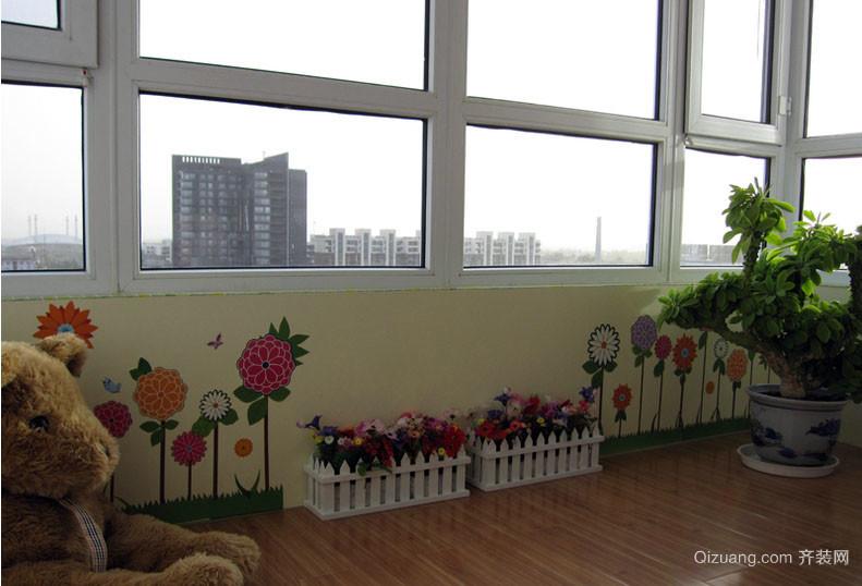 彩色炫丽的家居壁画设计效果图