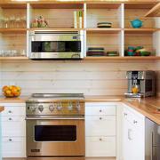 美式整体式U型厨房设计