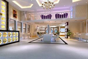 潮范儿十足的发廊店面装饰效果图