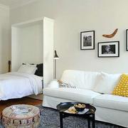 北欧风格简约白色沙发装修