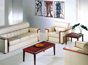 简约风格客厅皮制沙发背景墙装修效果图