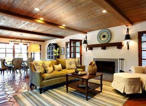 美式风格浅绿色沙发装饰