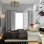 卧室印花床头背景墙设计