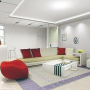 暖色调沙发背景墙图