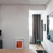 简约白色小型复式楼客厅设计