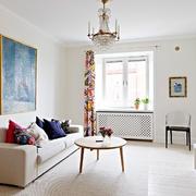 单身北欧小公寓客厅壁画
