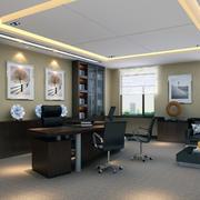 办公室吊顶装修设计效果图