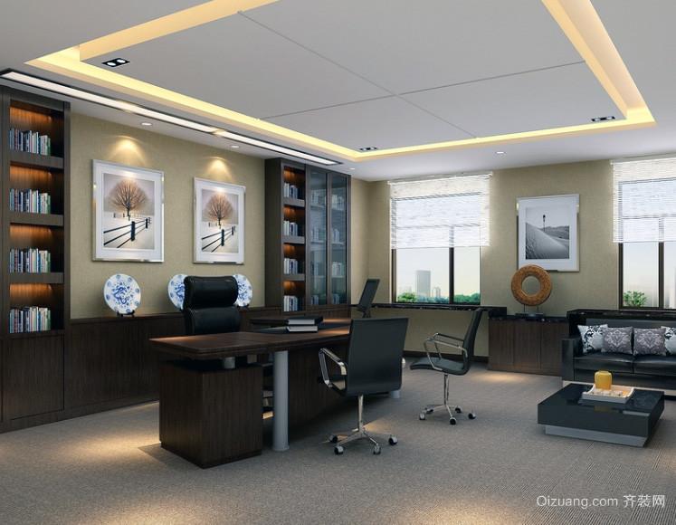 现代老总办公室吊顶装修设计效果图