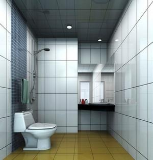 现代简约风格卫生间Led射灯装修效果图