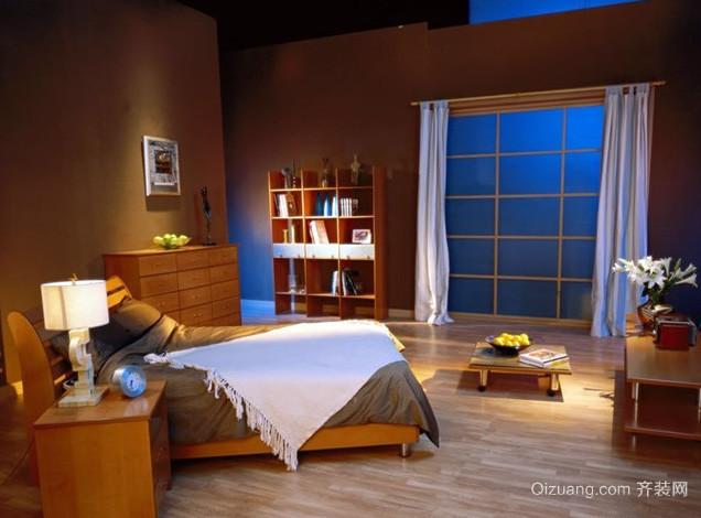 后现代风格卧室原木地板设计