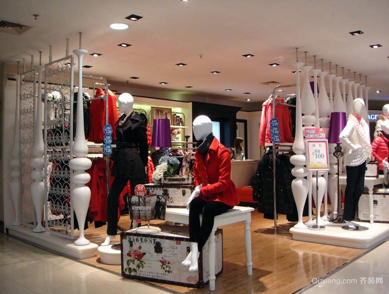 100平米 精美 服装店 装修设计效果图 齐装网装