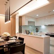 室内简约白色小厨房