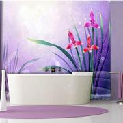 卫生间薰衣草壁画