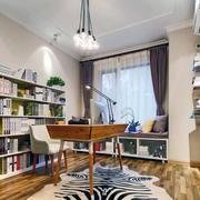 欧式精简型别墅书房