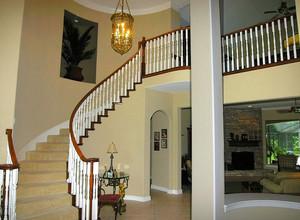 现代大户型别墅阁楼楼梯装修效果图