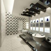 发廊洗发室装潢
