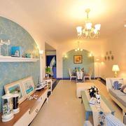 客厅地中海风格壁画