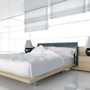 纯白色调卧室背景墙图