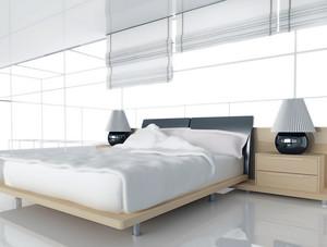 欧式大户型简约壁纸卧室装修效果图
