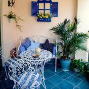 室内阳台铁艺餐桌椅