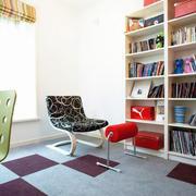 纯白色的书房造型