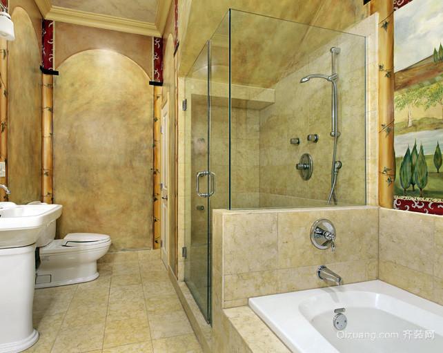 简欧风格复式楼浴室装修效果图