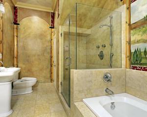 浴室玻璃隔断装饰
