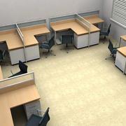 浅色原木办公桌设计