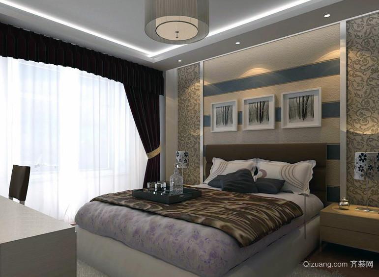 大户型欧式卧室背景墙设计效果图